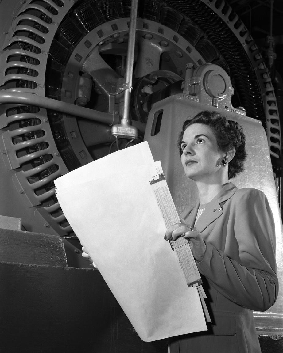 Egy Langley-portré 1952-ből: Kitty Joyner elektromérnök.