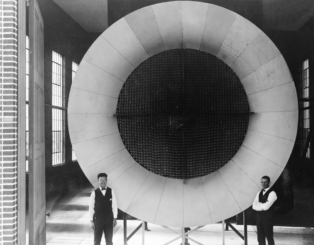 1920-as évek eleje: a Langley Kutatóközpont első légcsatornája.