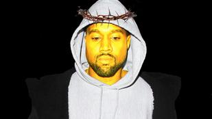 Kerekebb lett a világ: végre arany Jézus-szobor készült Kanye Westről