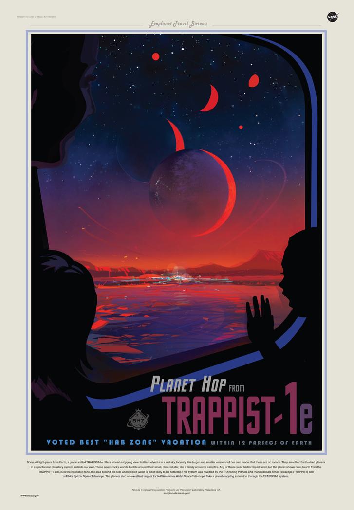 Űrturizmus leendő célpontja lehet a Trappist-1e bolygó