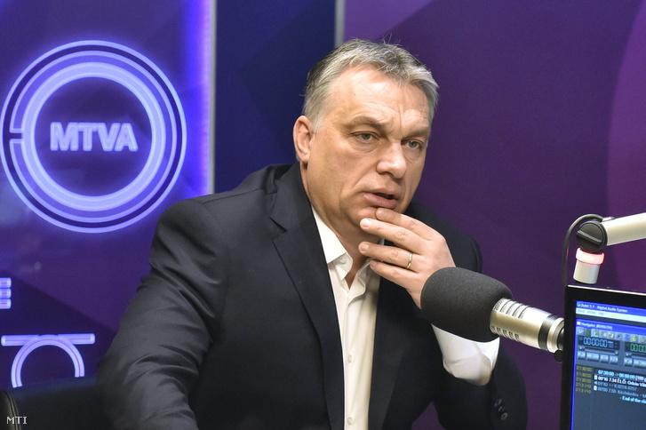 Orbán Viktor a Kossuth rádió reggeli műsorában.
