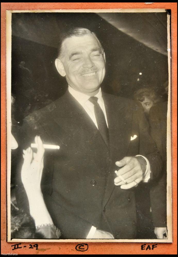 Az Elfújta a szél sztárja, Clark Gable dohányzás közben lett megörökítve