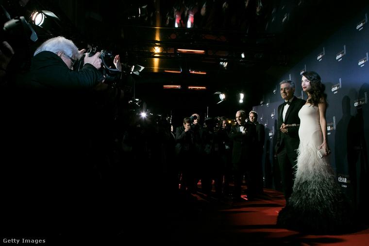 A Clooney házaspár pénteken a César-díjátadóra látogatott el
