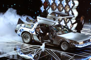 Volt múlt idézés is, Michael J. Fox és Seth Rogan megidézték a Vissza a jövőbent.