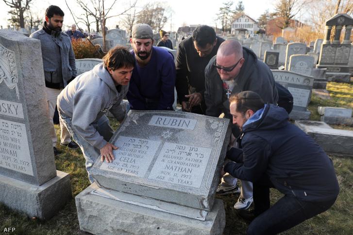 A philadelphiai megrongált temető