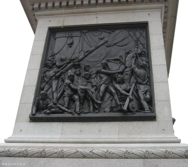 A Nelson-emlékszobor bronzreliefje