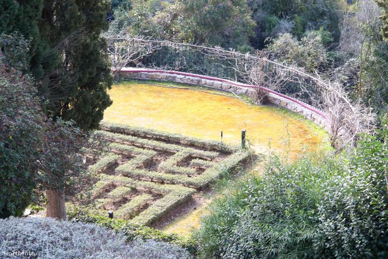 A kert egy kicsit most elhanyagolt állapotban van, de néhány ügyes kertésszel kétségkívül van benne fantázia