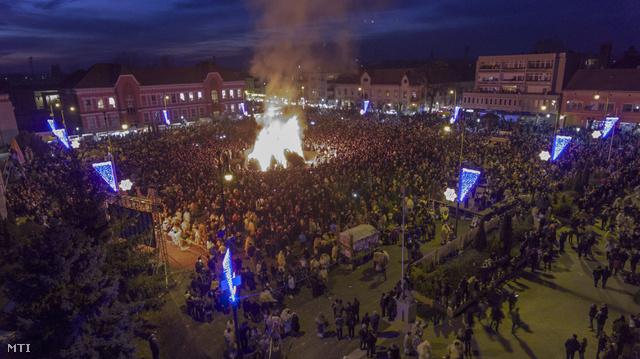 A Széchenyi tér drónnal készült távlati képe