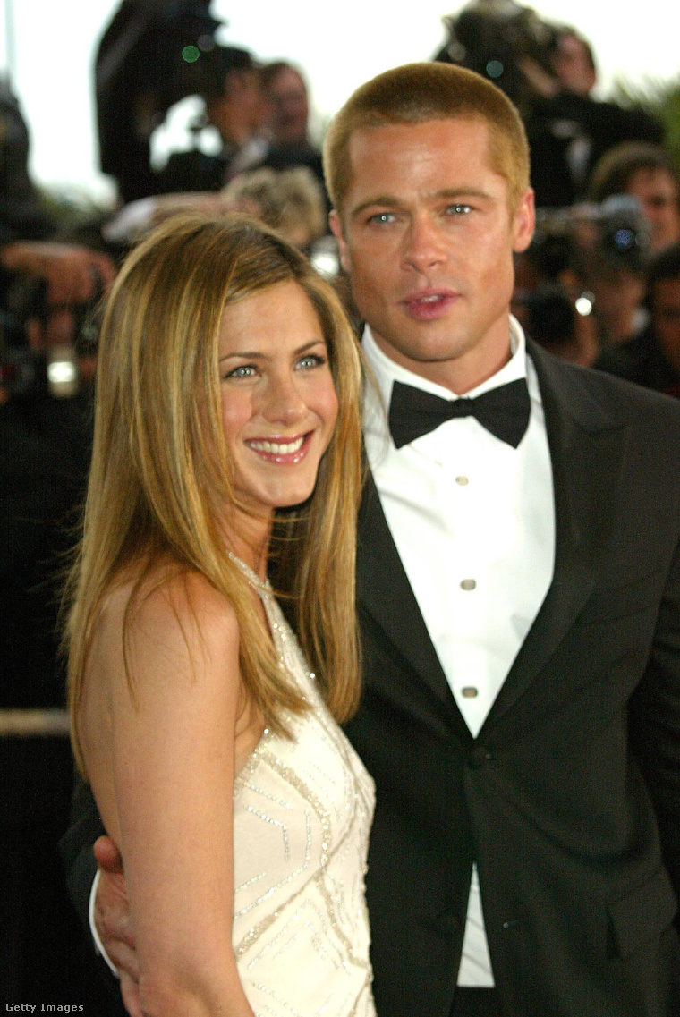Jennifer Aniston és Brad Pitt a 2004-es Cannes-i fimfesztiválon.