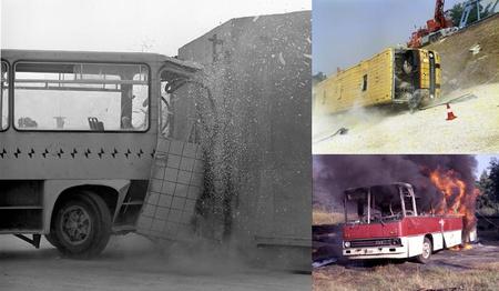 A gyár már a hetvenes évek elejétől kiemelt figyelmet fordított az autóbuszok biztonságának növelésére, a borulásos balesetek elemzése terén nemzetközi szinten is az élen járt