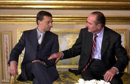 Orbán Viktor és Jacques Chirac