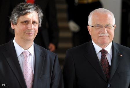 Jan Fischer és Václav Klaus