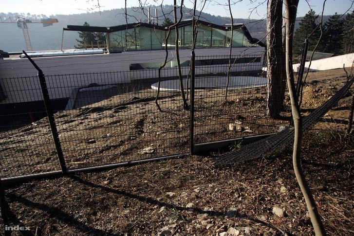 Természetvédelmi területet kerítettek el és vágták ki a fákat az építkezés alatt