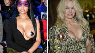 Pamela Anderson és Nicki Minaj spontán mellversenybe kezdtek