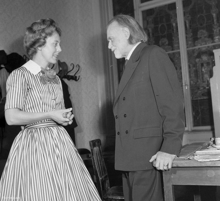 Monique de la Bruchollerie francia zongoraművésznő és Kodály Zoltán 1960-ban