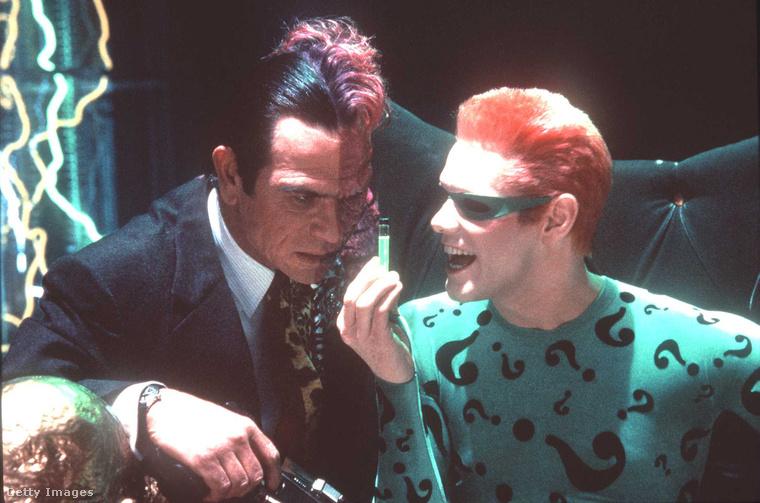 Tommy Lee Jones és Jim Carrey a Mindörökké Batman című filmben játszottak együtt 1995-ben