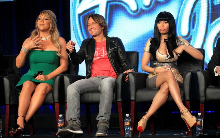 Nicki Minaj és Mariah Carey az American Idol című tévéműsorban zsűriskedett, és utálta meg egymást szívből