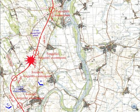 Az M6-os térképe