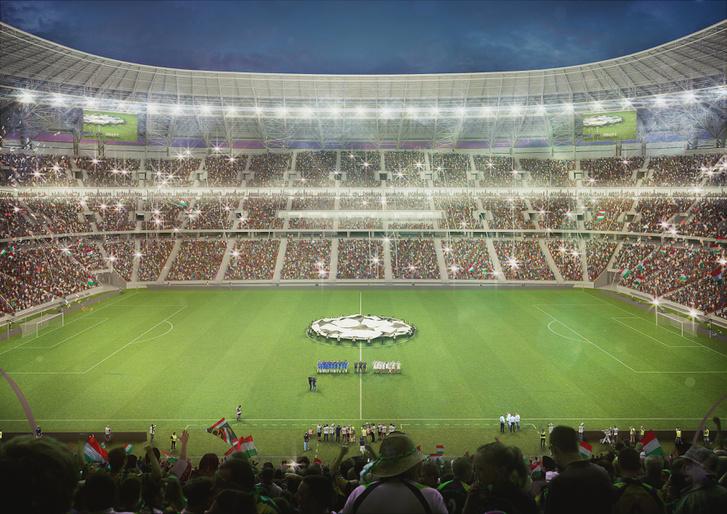 Mérkőzés előtti látványterv az új stadionról