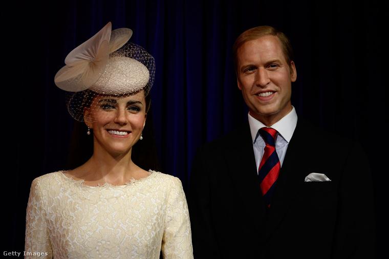 Katalin hercegnét és Vilmos herceget szeretik lépten-nyomon viaszba önteni (nyilván nem szó szerint), nehéz is volt csak egyet kiválasztani a sokból