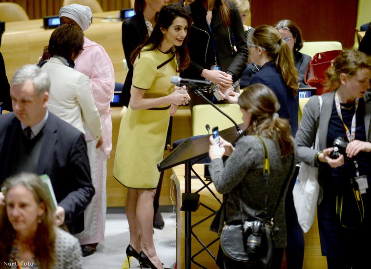 A 39 éves emberi jogi ügyvédnő hosszú beszédet mondott az ENSZ bizottsága előtt.