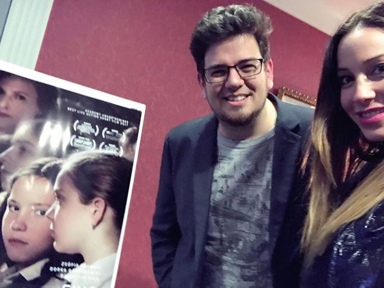 A Mindenki című kisfilm rendezője, Deák Kristóf és Vajna Tímea.