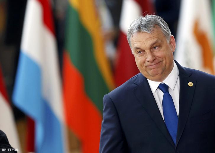 Orbán Viktor a brüsszeli EU-csúcson március 10-én