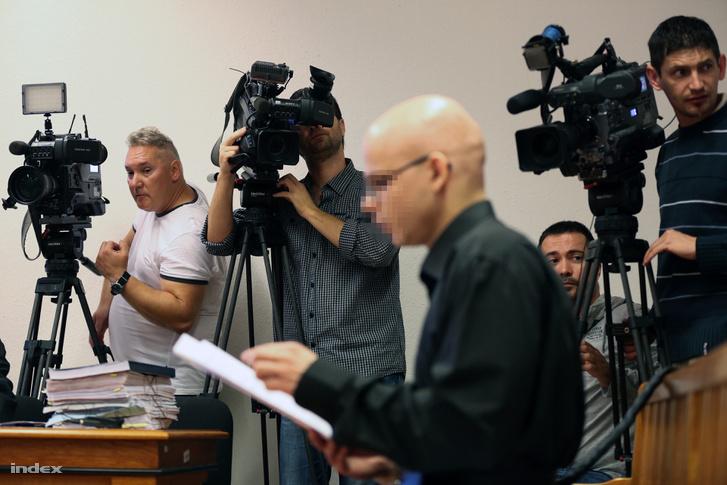 S. Ábel a bíróságon 2014. július 11-én