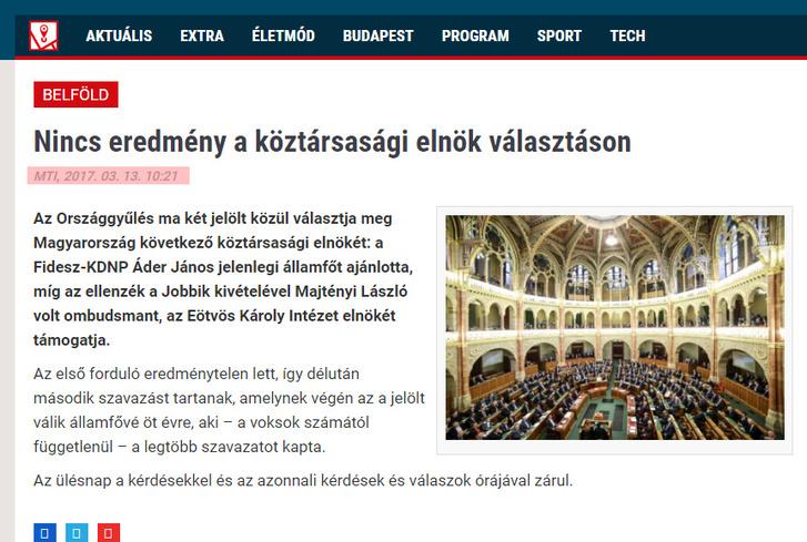 A Lokál.hu Google-nél tárolt verziója a 10 órakor élesedett cikkel.