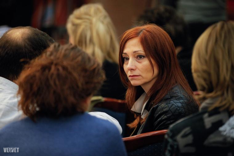 Renner Erika a másodfokú tárgyalás ítélethirdetésén.