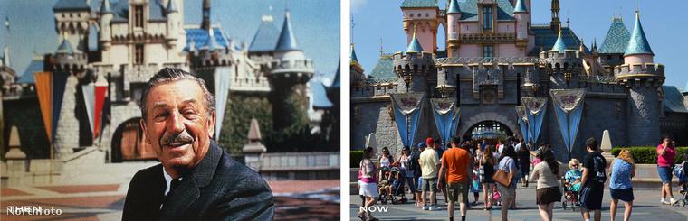 """60 éve nyílt meg a Disneyland, és most mutatunk néhány nagyszerű """"egykor és most"""" képet, amiből tökéletesen látszik, hogya varázslat semmit sem változott."""