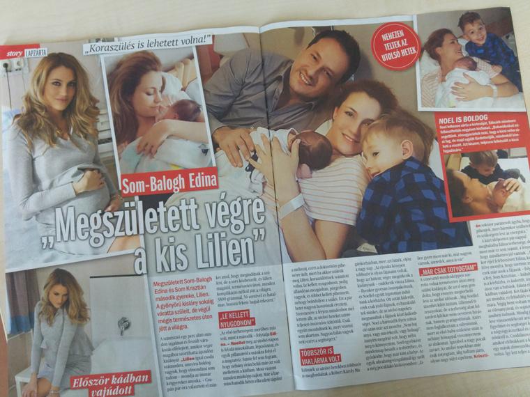 A lapnak a színésznő részletesen mesélt a szülésről.