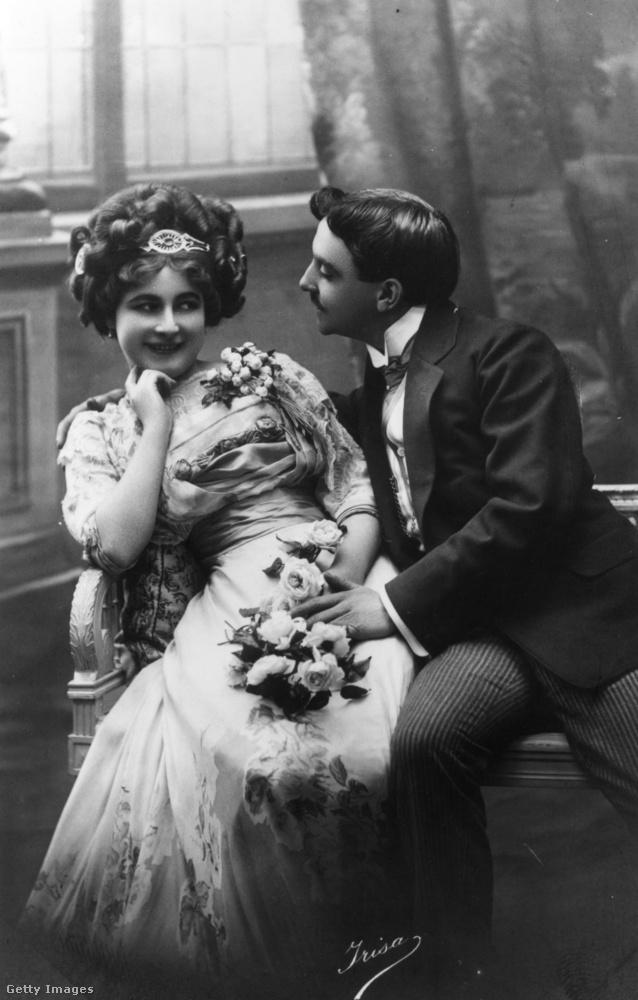 Egy jóval frivolabb kép 1890-ből