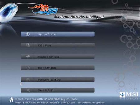 Az MSI klikkelős EFI-je