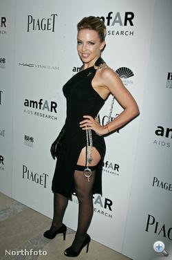 Kylie Minogue az amfAR gáláján.
