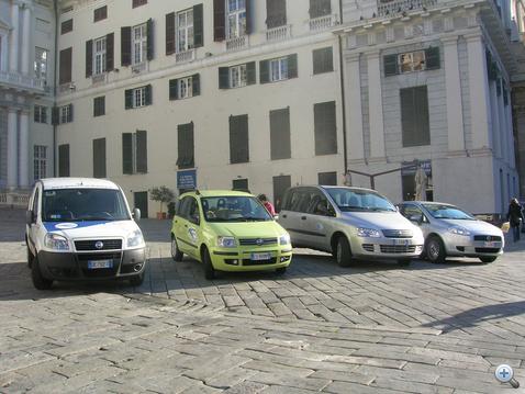 Egy tipikus carsharing flotta Olaszországban