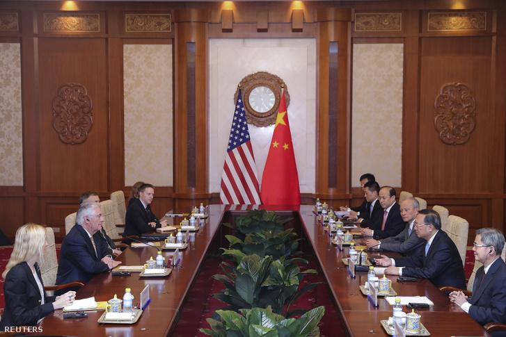 Külögyminiszteri szintű tárgyalásokat folytatott az Egyesült Államok és Kína pekingben