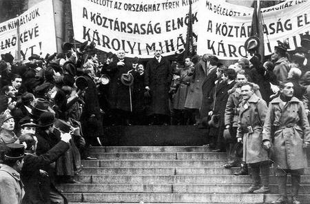 Károlyi Mihály köztársasági elnökké választása, 1918. november 16.