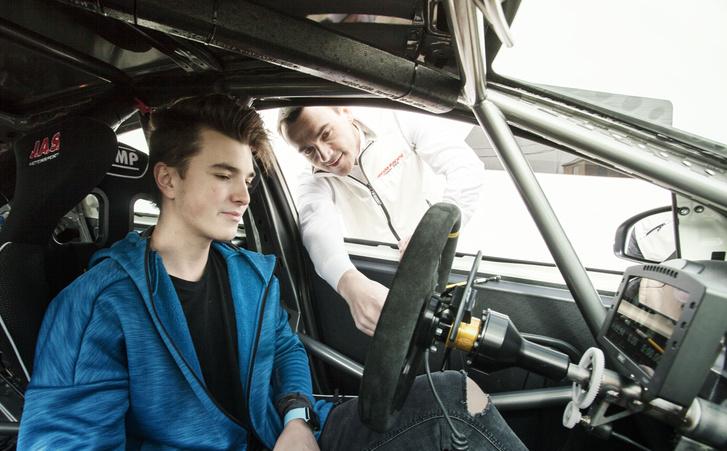 A jövő tehetsége, Tassi Attila, és a mentor, Michelisz Norbert
