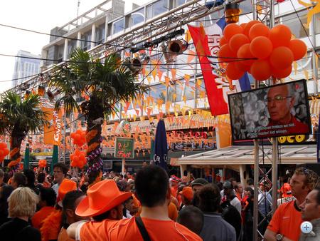 Holland szurkolók Rotterdamban