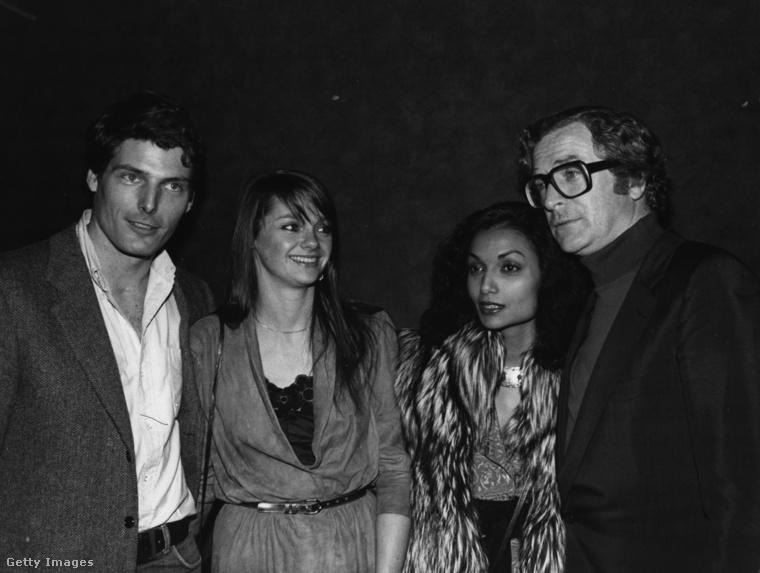 Ezen az 1982-es képen a pár Christopher Reeve-vel és partnerével látható.