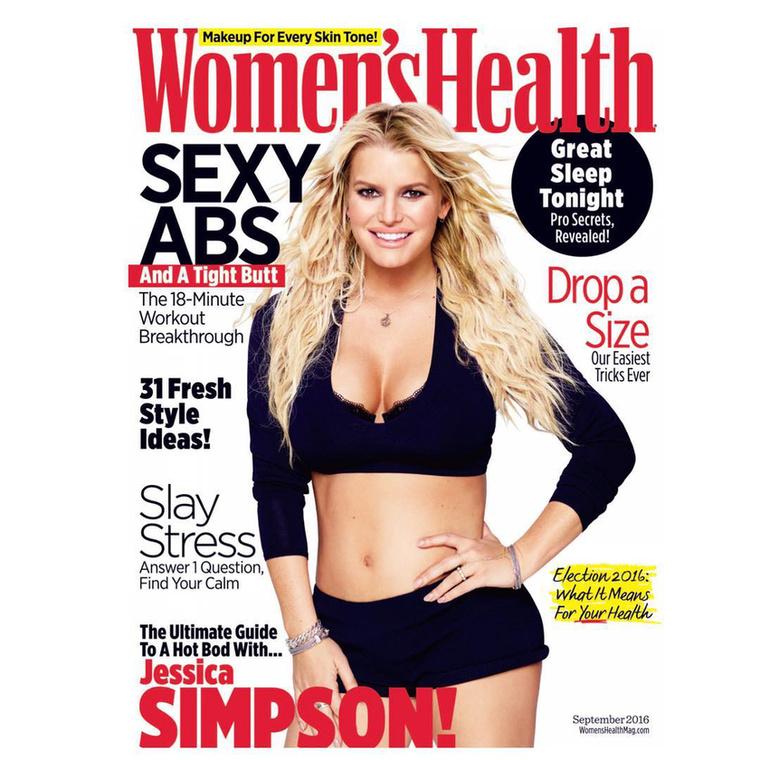 Jessica Simpson átalakulása annyira látványosra sikeredett, hogy a Women's Health címlapjára került vele