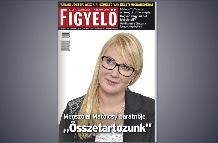 Vajda Zita a figyelő tavalyi címlapján