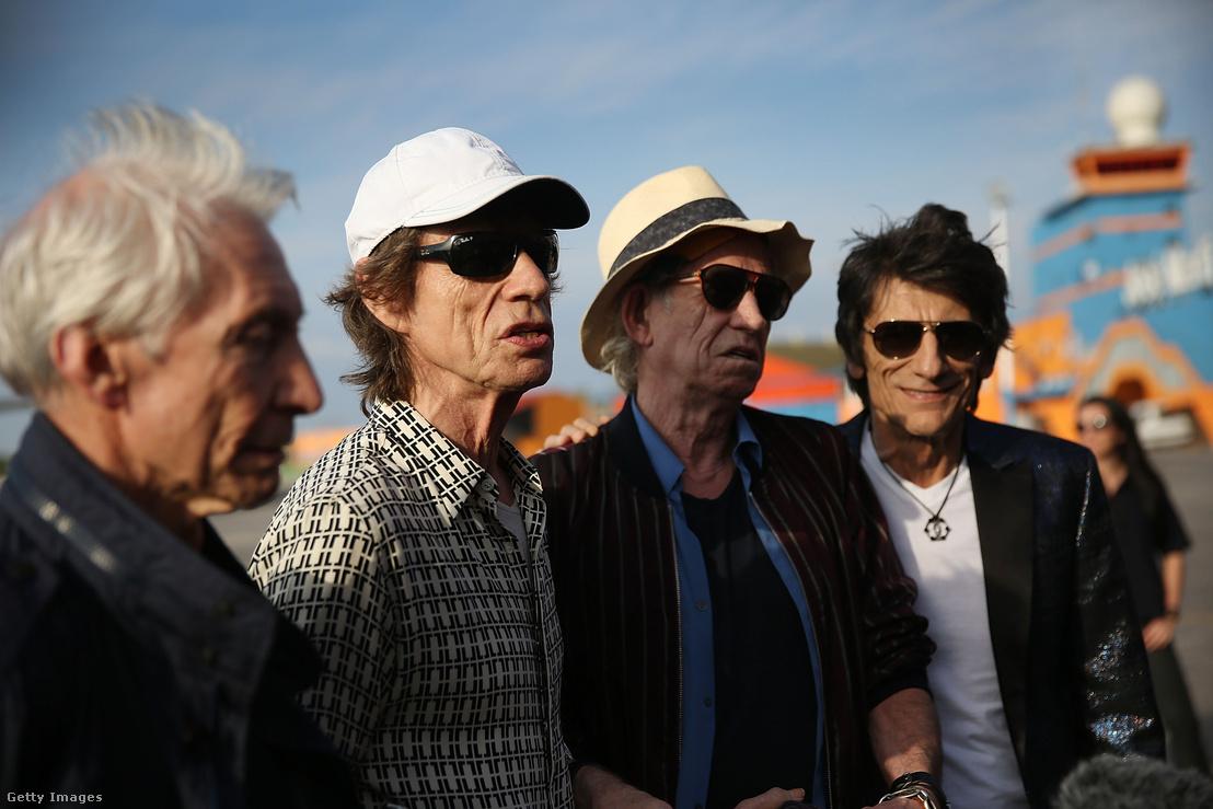 A Rolling Stones tagjai egy 2016-os koncertjük előtt