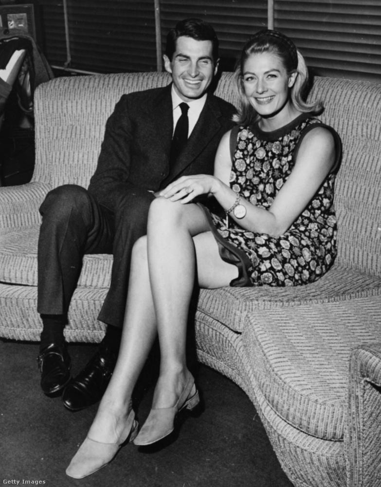 Ezen a fotón pedig 1966-ban George Hamiltonnalszerepeltek egy tévéműsorban