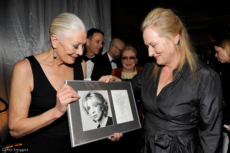 Amikor két színészlegenda találkozik!Redgrave és Meryl Streep New Yorkban egy jótékonysági gálán