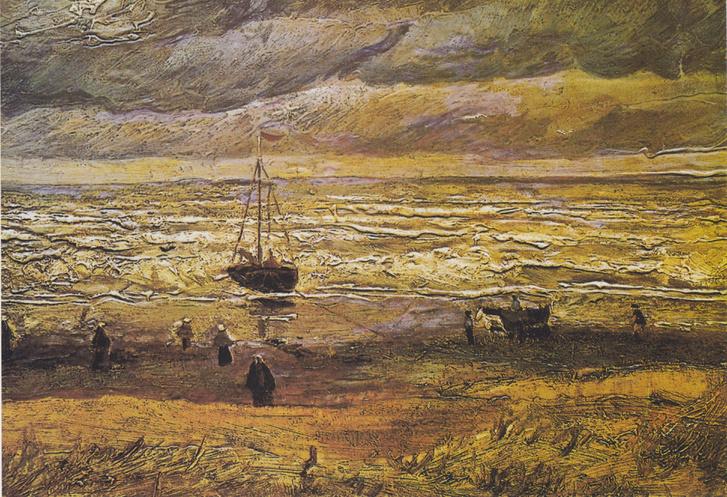 Van Gogh - Strand von Scheveningen bei stürmischen Wetter
