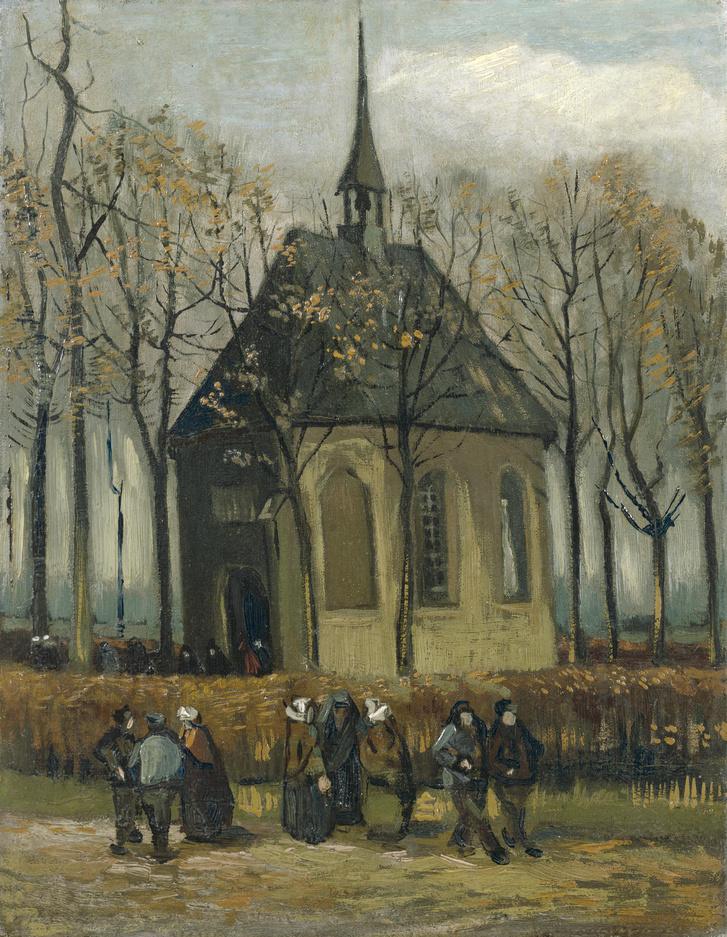 Het uitgaan van de Hervormde Kerk te Nuenen - s0003V1962 - Van G