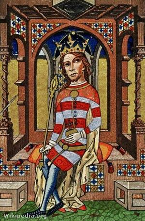 I. Lajos ábrázolása a Képes krónikában