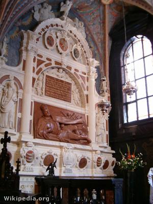 Báthory István síremléke a krakkói waweli székesegyházban